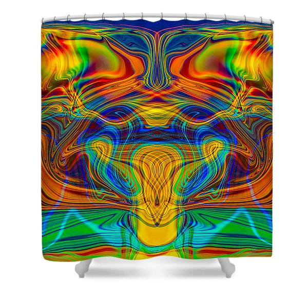 Bug Eyed Monster Shower Curtain