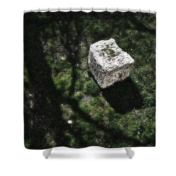 Building Block Jerusalem Old City Wall Shower Curtain
