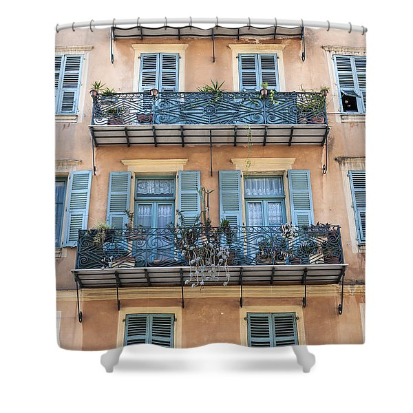 Building With Balconies Shower Curtain