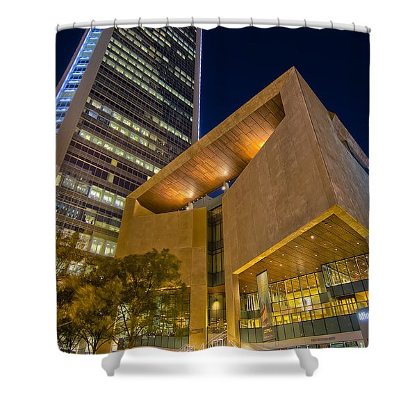 Shower Curtain featuring the photograph Buildings And Architecture Around Mint Museum In Charlotte North by Alex Grichenko