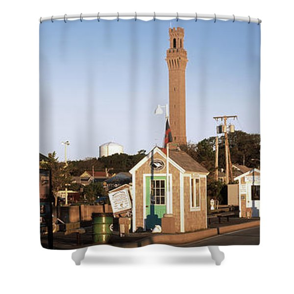 Buildings In A City, Provincetown, Cape Shower Curtain
