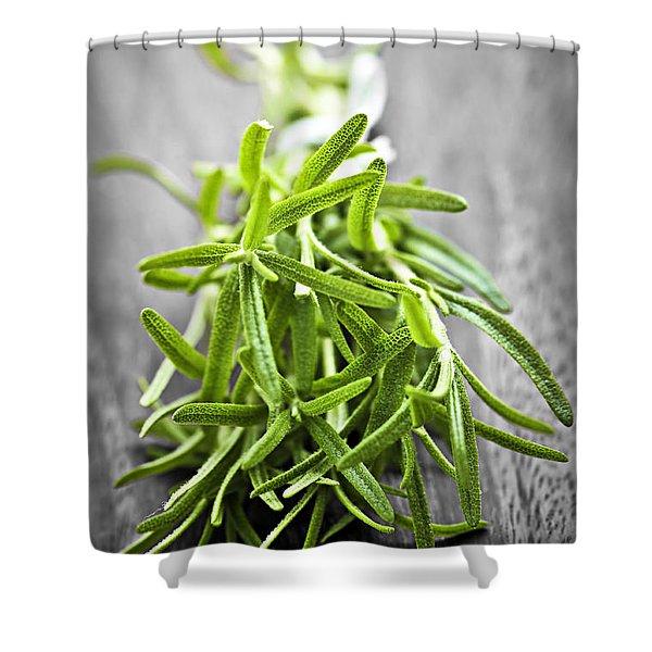 Bunch Of Fresh Rosemary Shower Curtain