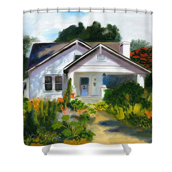 Bungalow In Sunlight Shower Curtain