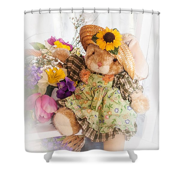 Bunny Expressions Shower Curtain