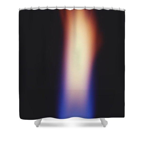 Bunsen Burner Flame Shower Curtain