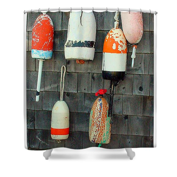 Buoys On The Wall Shower Curtain