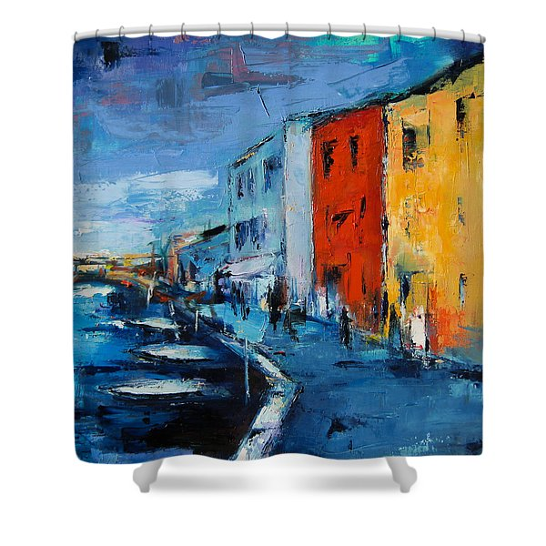 Burano Canal - Venice Shower Curtain