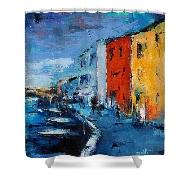 Burano Canal - Venice Shower Curtain