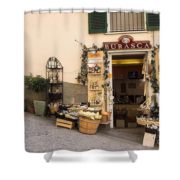 Burasca Shop Of Manarola Shower Curtain