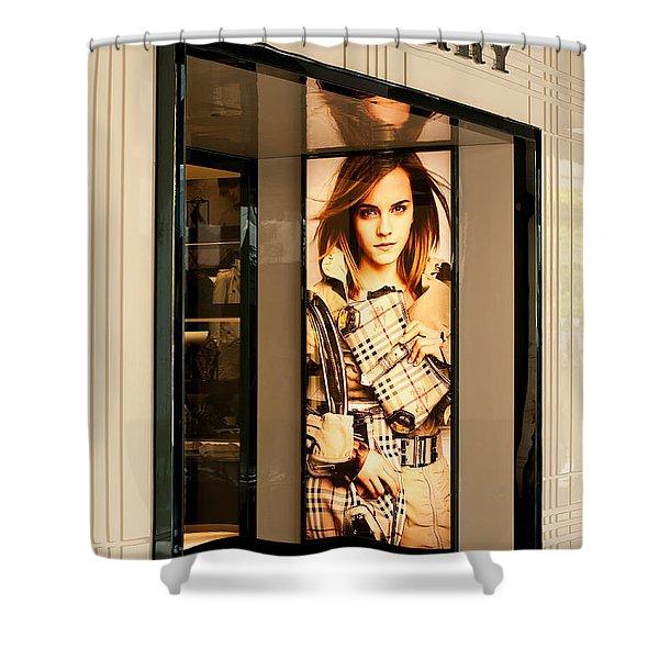 Burberry Emma Watson 01 Shower Curtain