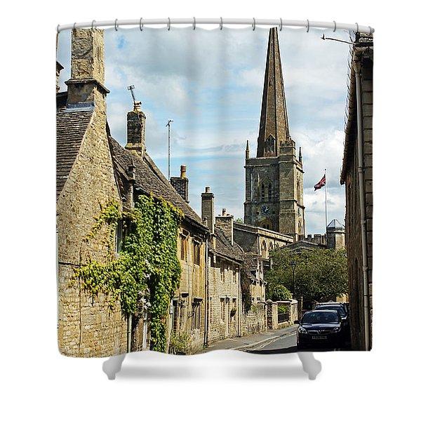 Burford Village Street Shower Curtain