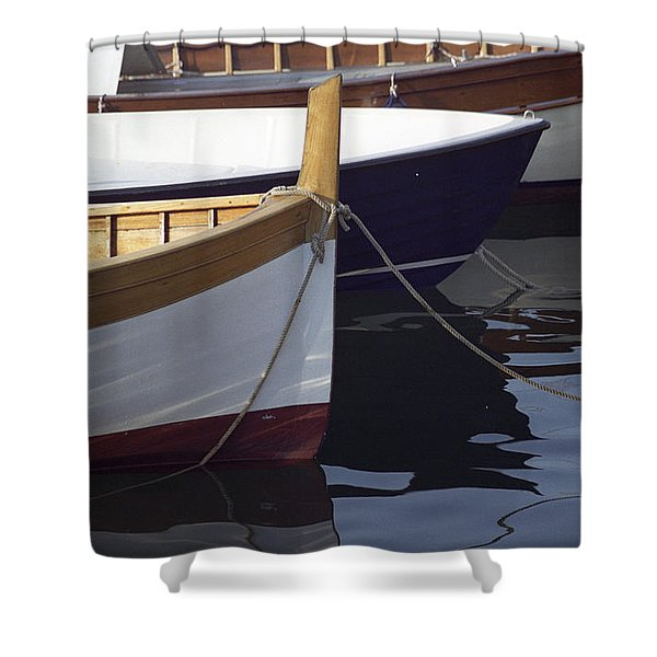 Burgundy Boat Shower Curtain