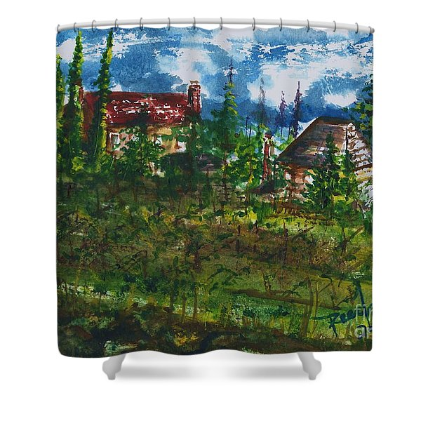Burgundy In The Morning  Shower Curtain