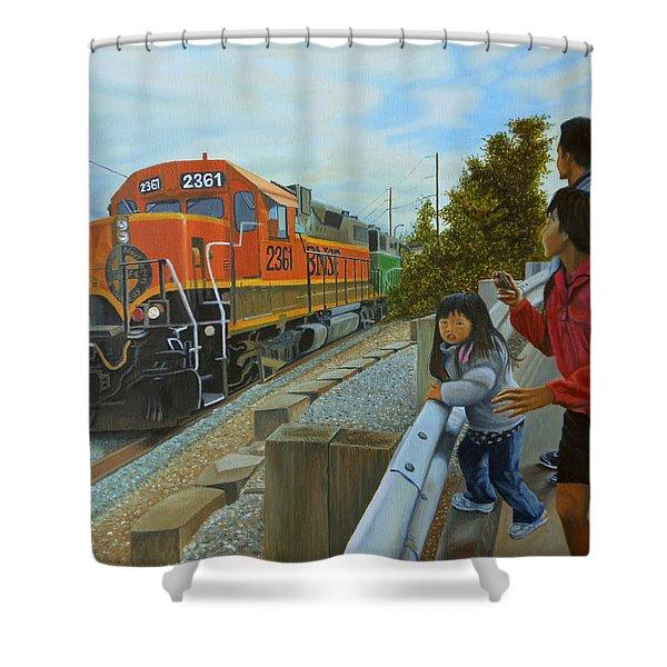 Burlington Northern Santa Fe Shower Curtain