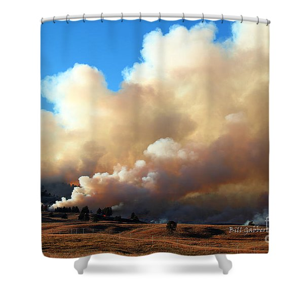 Burning In The Black Hills Shower Curtain