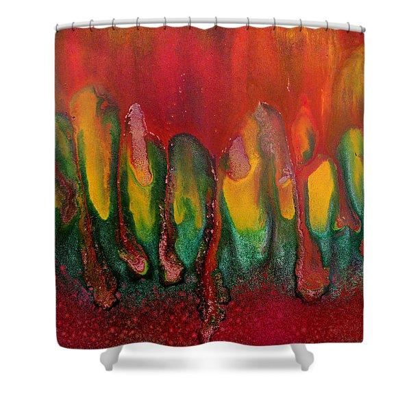 Burning Sensation Abstract Shower Curtain