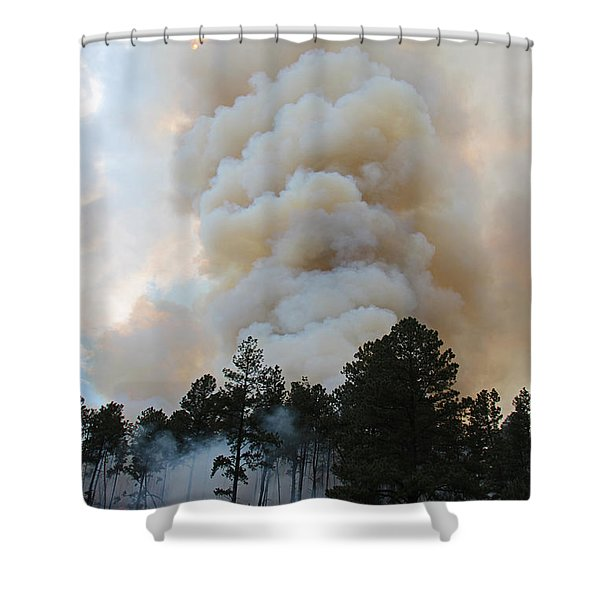 Burnout Near Song Dog Road Shower Curtain