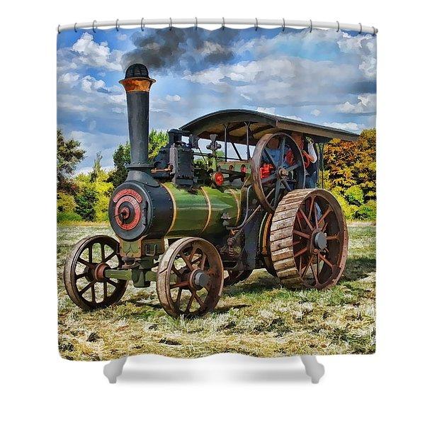 Burrell Steam Engine  Shower Curtain