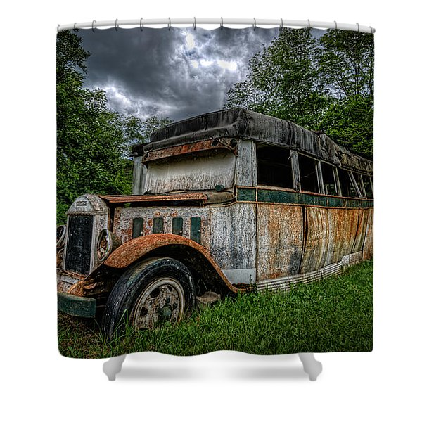 Bus Decay 16 By 9  Shower Curtain