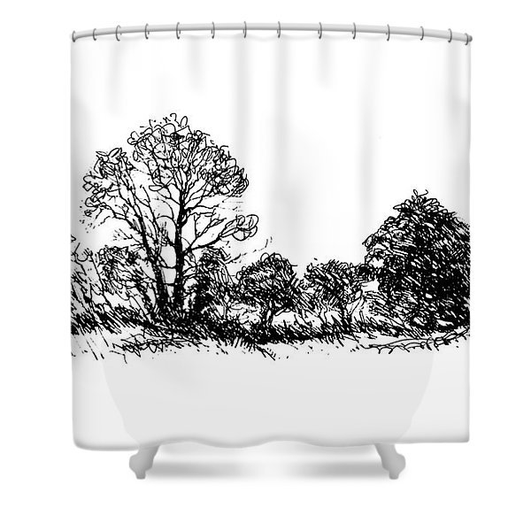Bushes Shower Curtain