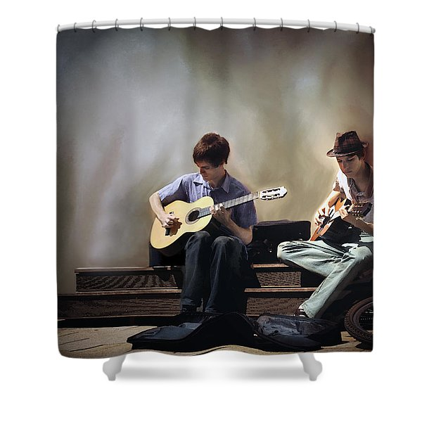 Buskers Shower Curtain