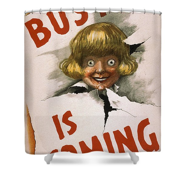 Buster Is Coming Shower Curtain
