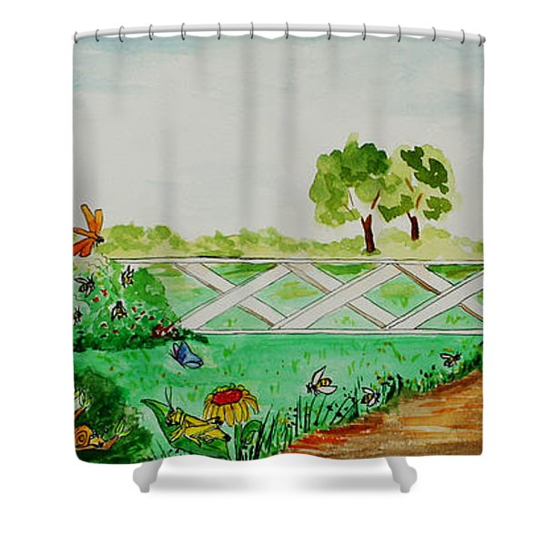 Busy Bee Garden Shower Curtain