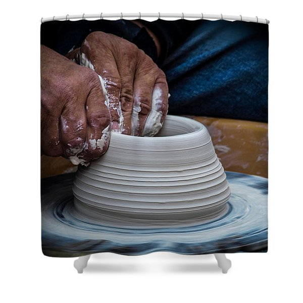 Busy Hands Shower Curtain