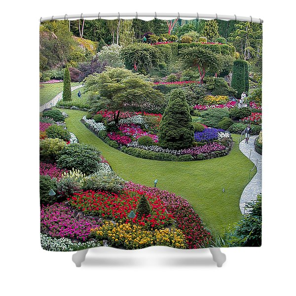 Butchart Gardens Shower Curtain