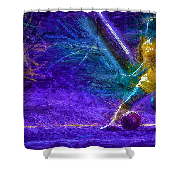 Butler University Soccer Athlete Caroline Kowal Digitally Painted 2 Shower Curtain