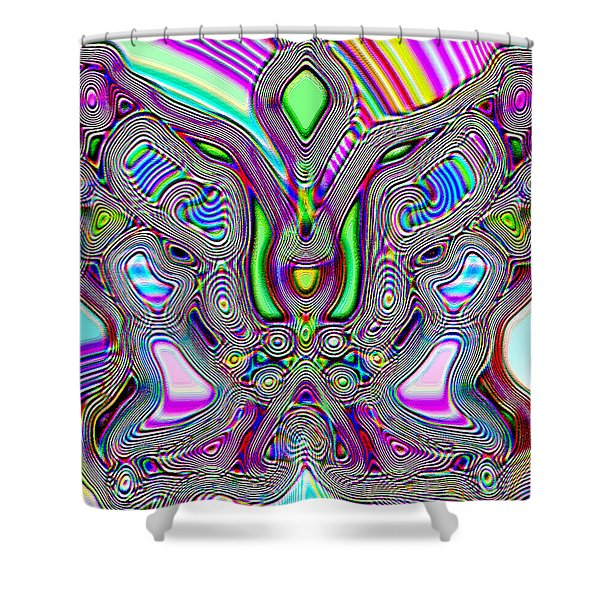 Butterfly Groove Shower Curtain