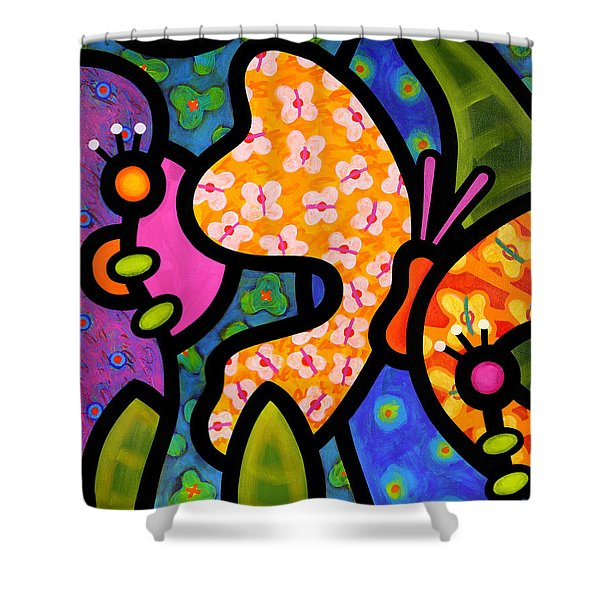 Butterfly Jungle Shower Curtain