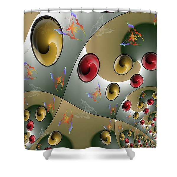 Butterfly Storm Shower Curtain