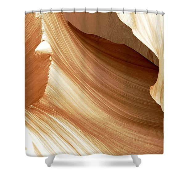 Butterscotch Taffy Antelope Canyon Shower Curtain