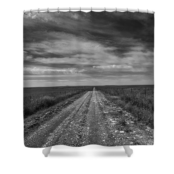 Bxw Gravel Vanishing Point Shower Curtain