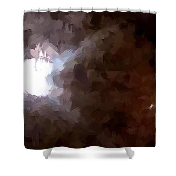 By The Moonlight Shower Curtain