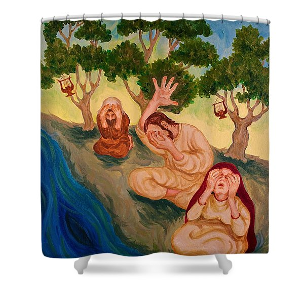 By The Rivers Of Babylon - Psalm 137 Shower Curtain