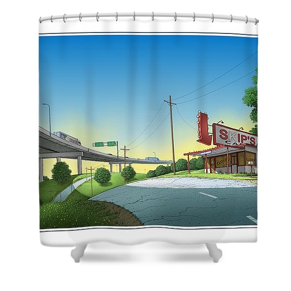 Bypassed Shower Curtain