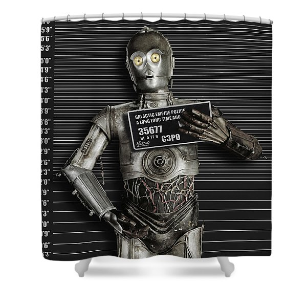 C-3po Mug Shot Shower Curtain