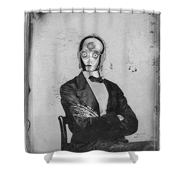 C-3po Star Wars Antique Photo Shower Curtain