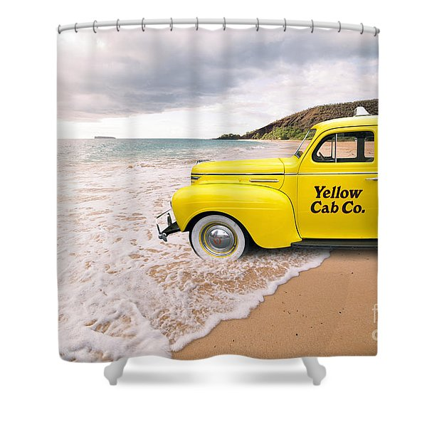 Shower Curtain featuring the photograph Cab Fare To Maui by Edward Fielding