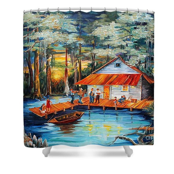 Cabin In The Swamp Shower Curtain