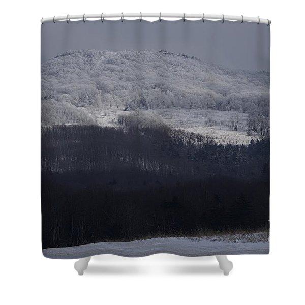 Cabin Mountain Shower Curtain