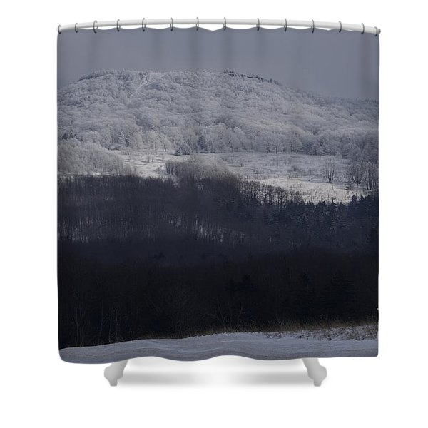 Cabin Mountain Shower Curtain