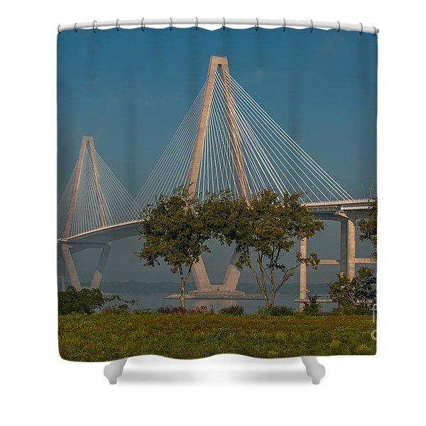 Cable Stayed Bridge Shower Curtain