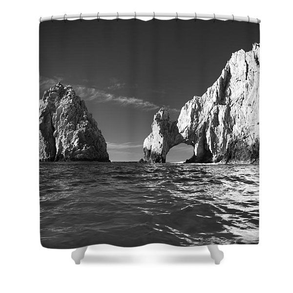 Cabo In Black And White Shower Curtain