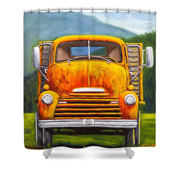 Cabover Truck Shower Curtain