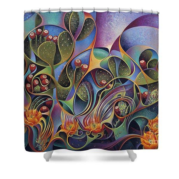 Cactus Dinamicus 3d Shower Curtain