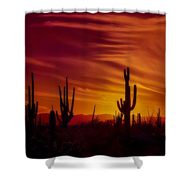Cactus Glow Shower Curtain