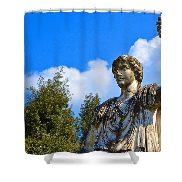 Caesar On Blue Sky Shower Curtain